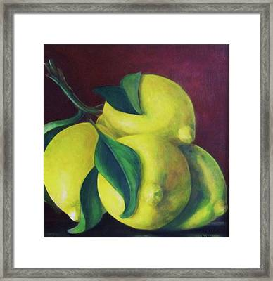 Lemons Framed Print by Dana Redfern