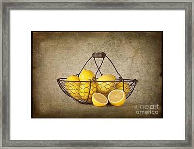 Lemons Framed Print by Heather Swan