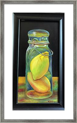 Lemons In Jar.  Sold Framed Print