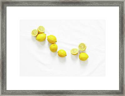 Lemons Framed Print by Lauren Mancke