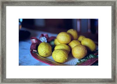 Lemons Framed Print by Michael Morrison