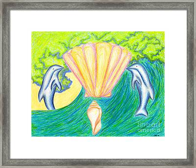 Framed Print featuring the drawing Lemuria Atlantis by Kim Sy Ok