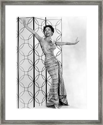 Lena Horne. Ca. 1950s. Courtesy Csu Framed Print
