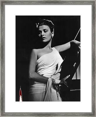 Lena Horne  Circa 1943-2015 Framed Print by David Lee Guss