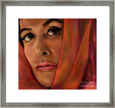 Lena Horne-glass Windows Framed Print by Reggie Duffie