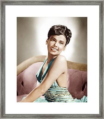Lena Horne, Mgm Portrait, Ca. 1940s Framed Print by Everett