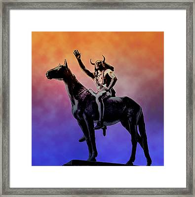 Lenape Indian Chief Framed Print by Bill Cannon