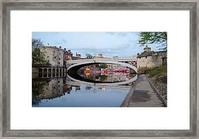 Lendal Bridge Reflection  Framed Print