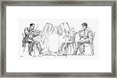 Lener String Quartet Framed Print by Granger