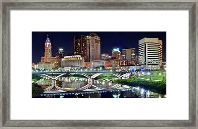 Lengthy Columbus Nightscape Framed Print