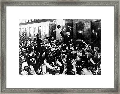 Lenin At Finland Station Framed Print