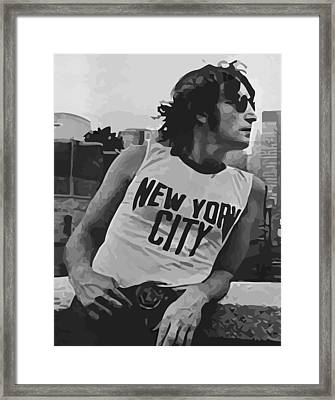 Lennon 01 Framed Print by Daniel elias Bravo