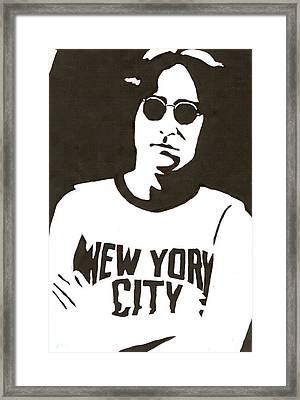 Lennon Framed Print by Michelle Kinzler