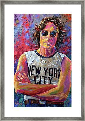 Lennon New York Framed Print by Debra Hurd