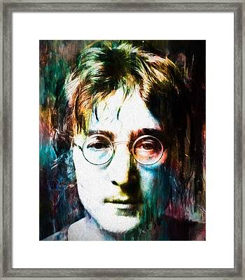 Lennon Tribute Framed Print by Dan Sproul