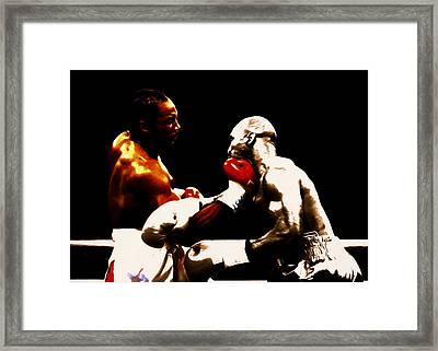 Lennox Lewis And Evander Holyfield 3c Framed Print