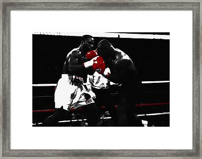 Lennox Lewis And Iron Mike Framed Print