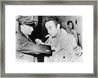 Lenny Bruce 1925-1966, Being Searched Framed Print