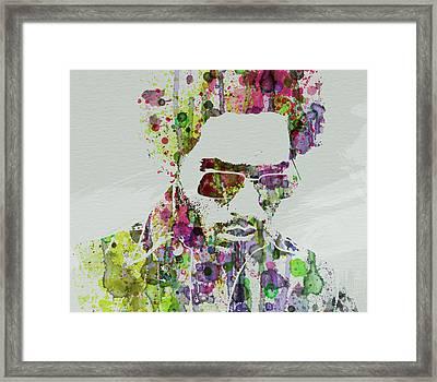 Lenny Kravitz 2 Framed Print by Naxart Studio