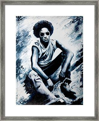 Lenny Kravitz Framed Print by Jocelyn Passeron