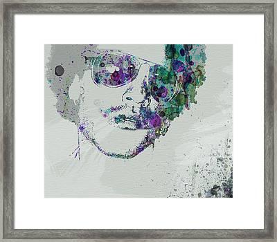 Lenny Kravitz Framed Print by Naxart Studio