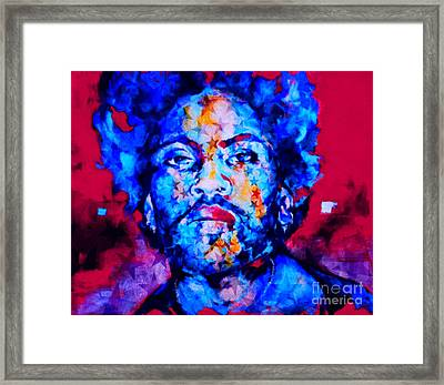 Lenny Kravitz Pop Art Pur Serie  Framed Print by Felix Von Altersheim