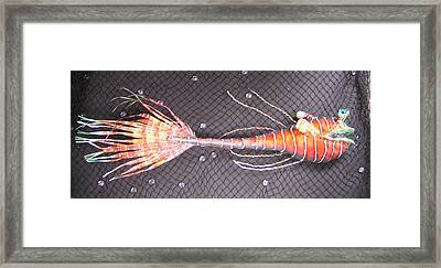 Lenny The Lipster Fish Framed Print by Dan Townsend