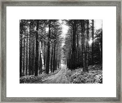Lenox Country Road Framed Print by Underwood Archives