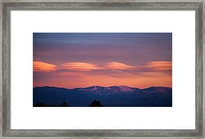Lenticular Clouds Framed Print by Elena E Giorgi