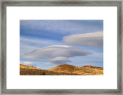Lenticular Landing Framed Print by Donna Kennedy