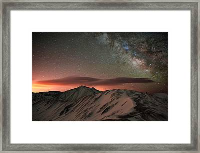 Lenticular Mountain Milky Way Framed Print by Mike Berenson