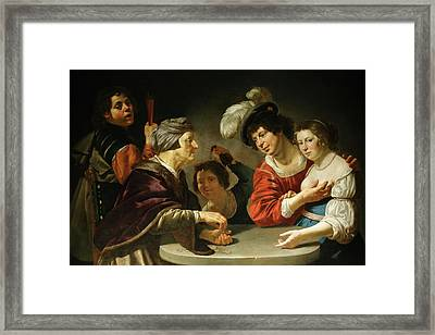 L'entremetteuse Framed Print by Jan Van Bijlert