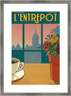 L'entrepot Framed Print by Mr Bon