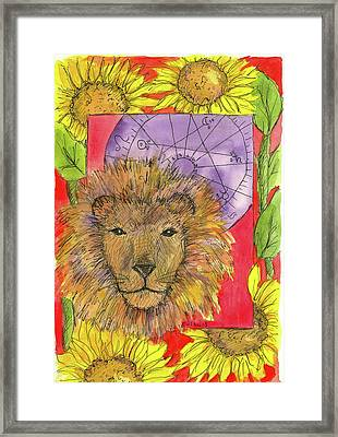 Framed Print featuring the painting Leo by Cathie Richardson
