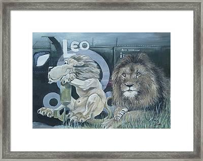 Leo Framed Print by Duncan Sawyer