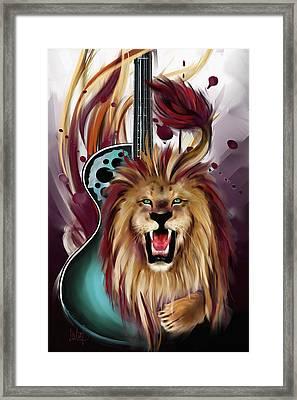 Leo Framed Print by Melanie D