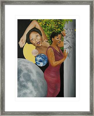 Leo Queen Tiffany Framed Print by Angelo Thomas