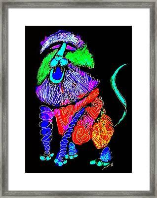 Leo, Rampant -- Negative Version Framed Print