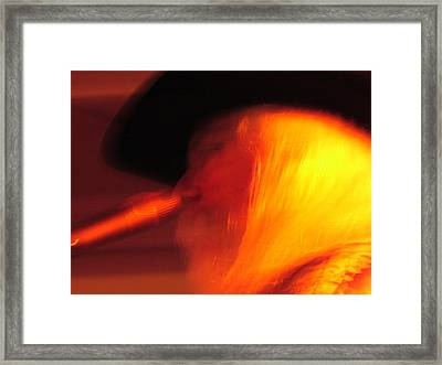 Leon Russel Framed Print by Mike Martin