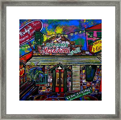 Leon Springs Framed Print by Patti Schermerhorn
