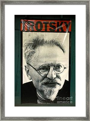 Leon Trotsky Poster Mexico City Framed Print by John  Mitchell