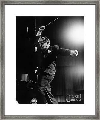 Leonard Bernstein Framed Print by Granger
