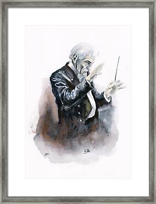 Leonard Bernstein Framed Print by Jota Lara