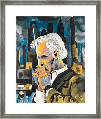 Leonard Bernstein Portrait Framed Print by Preciada Azancot