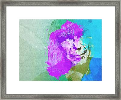 Leonard Cohen 3 Framed Print by Naxart Studio
