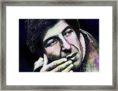 Leonard Cohen - Drawing Tribute Framed Print