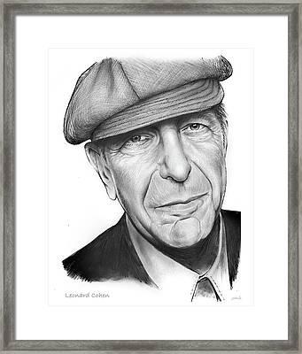 Leonard Cohen Framed Print