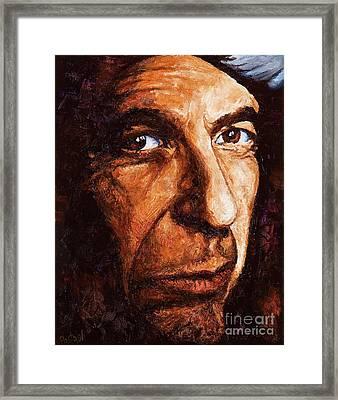 Leonard Cohen Framed Print by Igor Postash