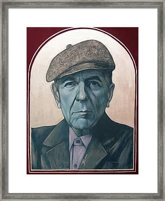 Leonard Cohen Framed Print by Jovana Kolic