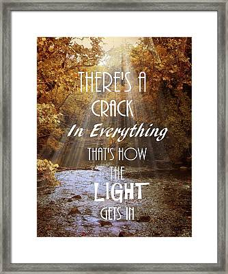 Leonard Cohen Quote Framed Print by Jessica Jenney
